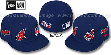 Indians 'EVOLUTION' Fitted Hat by New Era - navy