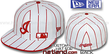 Indians FABULOUS White-Red Fitted Hat by New Era