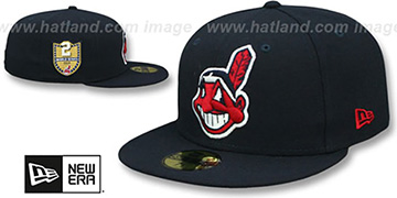 Indians 'GOLDEN-HIT' Navy Fitted Hat by New Era