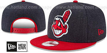 Indians 'LOGO GRAND SNAPBACK' Navy-Red Hat by New Era