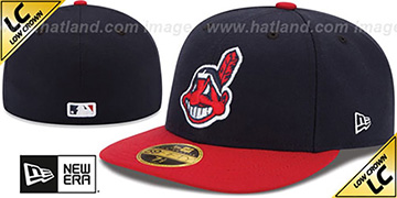 Indians '2017 LOW-CROWN ONFIELD HOME' Fitted Hat by New Era