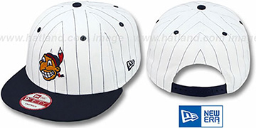 Indians 'PINSTRIPE BITD SNAPBACK' White-Navy Hat by New Era