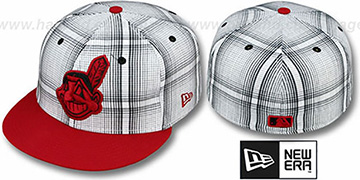 Indians 'PLAIDIE' Red Fitted Hat by New Era