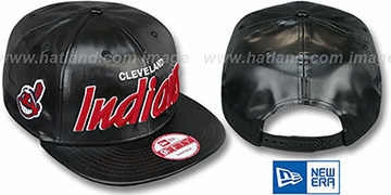 Indians 'REDUX SNAPBACK' Black Hat by New Era