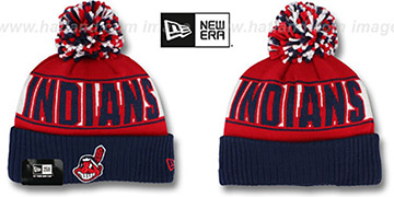 Indians 'REP-UR-TEAM' Knit Beanie Hat by New Era