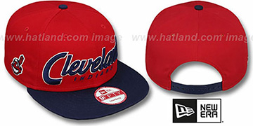 Indians 'SNAP-IT-BACK SNAPBACK' Red-Navy Hat by New Era