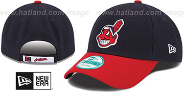Indians THE-LEAGUE HOME STRAPBACK Navy-Red Hat by New Era
