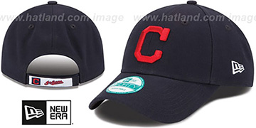 Indians THE-LEAGUE ROAD STRAPBACK Navy Hat by New Era