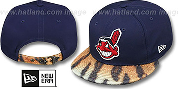 Indians 'TIGER ANIMALISTIC-FUR VIZA STRAPBACK' Hat by New Era