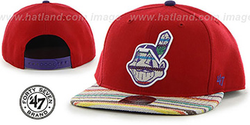Indians 'WARCHILD SNAPBACK' Red Hat by Twins 47 Brand