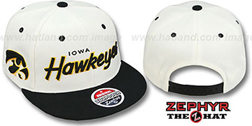 Iowa 2T HEADLINER SNAPBACK White-Black Hat by Zephyr