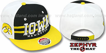 Iowa 2T SUPERSONIC SNAPBACK Black-Gold Hat by Zephyr