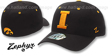 Iowa 'DH-2' Black Fitted Hat by Zephyr