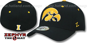 c7a14ba19d2 Iowa DHS Black Fitted Hat by Zephyr