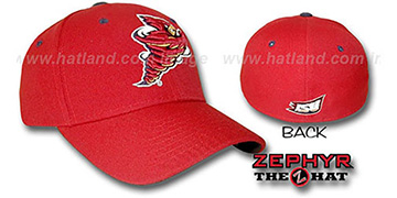 Iowa State 'DHS' Fitted Hat by ZEPHYR - red