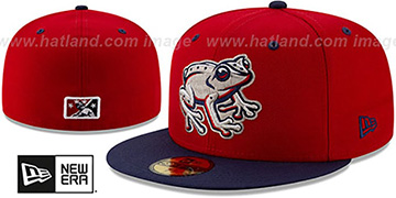 Iron Pigs COPA Red-Navy Fitted Hat by New Era