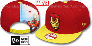 Ironman QUARTER-SUB SNAPBACK Red-Gold Hat by New Era