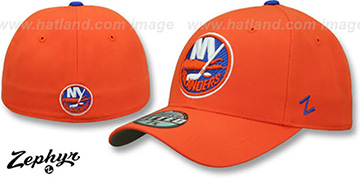 Islanders 'SHOOTOUT' Orange Fitted Hat by Zephyr