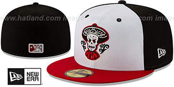 Isotopes COPA White-Black-Red Fitted Hat by New Era