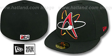 Isotopes 'MIGHTY-XL' Black Fitted Hat by New Era