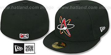 Isotopes 'PERFORMANCE HOME' Black Fitted Hat by New Era