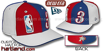 Iverson DOUBLE WHAMMY Red-Royal-White Fitted Hat