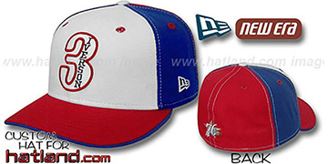 Iverson PINWHEEL White-Royal-Red Fitted Hat by New Era