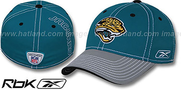 Jaguars 2008-09 SIDELINE-2 FLEX Teal-Grey Hat by Reebok