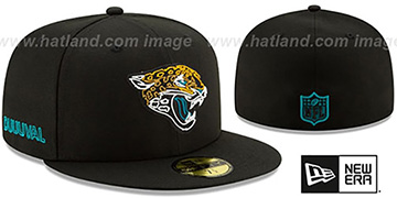 Jaguars 2020 NFL VIRTUAL DRAFT Black Fitted Hat by New Era
