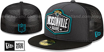 Jaguars '2021 NFL TRUCKER DRAFT' Fitted Hat by New Era