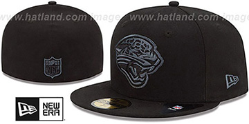 Jaguars 'NFL FADEOUT-BASIC' Black Fitted Hat by New Era