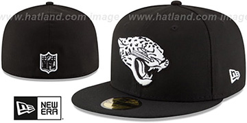 Jaguars NFL TEAM-BASIC Black-White Fitted Hat by New Era