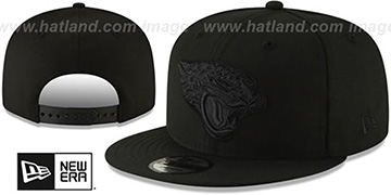 Jaguars TEAM-BASIC BLACKOUT SNAPBACK Hat by New Era