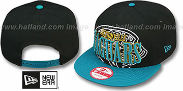 Jaguars 'THROUGH SNAPBACK' Black-Teal Hat by New Era