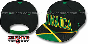 Jamaica 'SUPERSTAR SNAPBACK' Black Hat by Zephyr