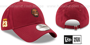 James 'PRIMARY PLAYER STRAPBACK' Burgundy Hat by New Era