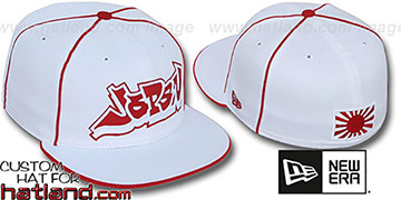 Japan GRAFFITI PIPING-2 White Fitted Hat by New Era