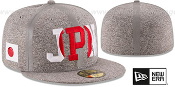 Japan PRIDE FLECT Grey Fitted Hat by New Era