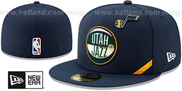 Jazz 2019 NBA DRAFT Navy Fitted Hat by New Era