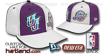 Jazz 'DOUBLE WHAMMY' Purple-White Fitted Hat