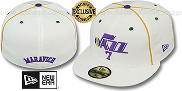 Jazz MARAVICH TEAM-UP White Fitted Hat by New Era