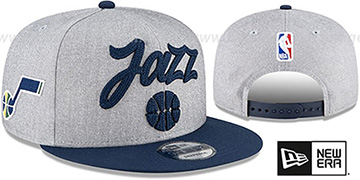 Jazz ROPE STITCH DRAFT SNAPBACK Grey-Navy Hat by New Era