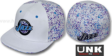 Jazz 'TC-SPLATTER' White-Team Color Fitted Hat by UNK