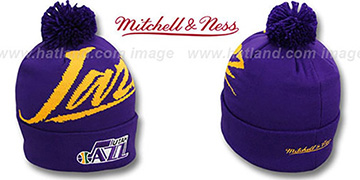 Jazz VICE BEANIE Purple by Mitchell and Ness