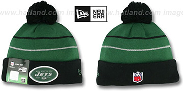 Jets THANKSGIVING DAY Knit Beanie Hat by New Era