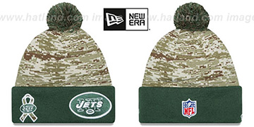 Jets 2015 SALUTE-TO-SERVICE Knit Beanie Hat by New Era