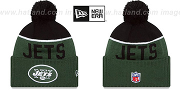 Jets '2015 STADIUM' Green-Black Knit Beanie Hat by New Era