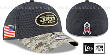 Jets '2016 SALUTE-TO-SERVICE FLEX' Grey-Desert Hat by New Era