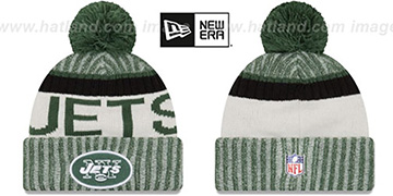 Jets '2017 STADIUM BEANIE' Green Knit Hat by New Era