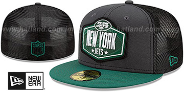 Jets '2021 NFL TRUCKER DRAFT' Fitted Hat by New Era